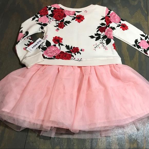 4ab6e9921 Old Navy Dresses   Toddler Longsleeve Floral Tutu Dress   Poshmark